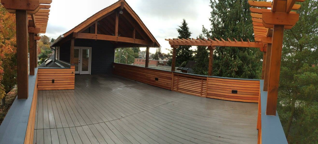 New Roof Deck ready for the hot tub
